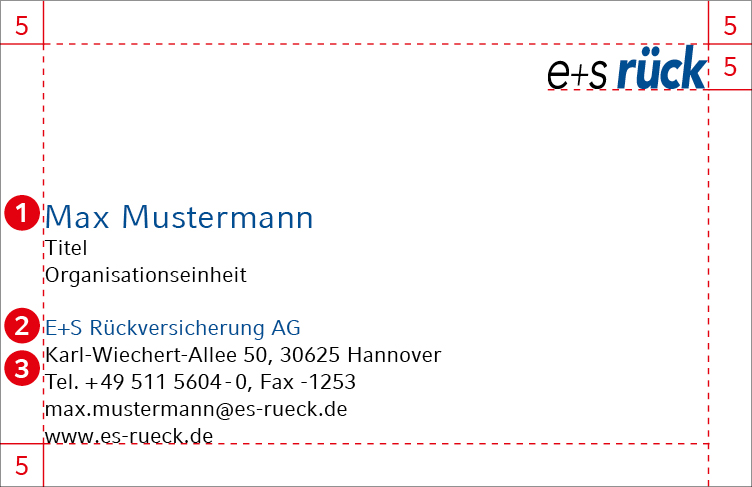 Hannover Rück Gruppe Corporate Design Guidelines Visitenkarten