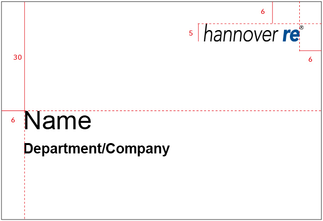 Namensclips mit Department/Company